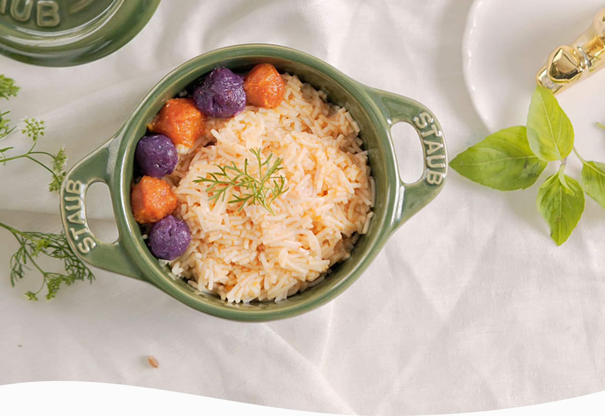 穗穗康健寶寶麵搭配南瓜泥及紫地瓜泥